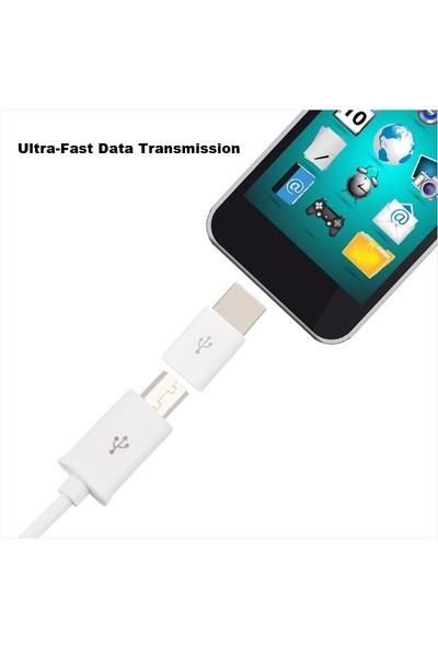 Tkz USB-C 3.1 Type C Den Mikro USB Tipi-C Dönüştürücü Adaptör