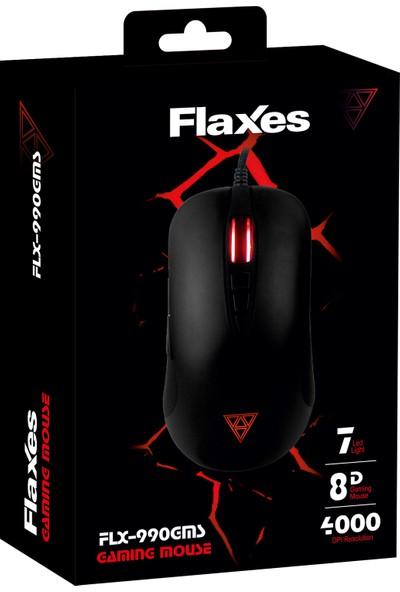 Flaxes FLX-990GMS 4000 DPI 8 Tuş Siyah Oyuncu Mouse