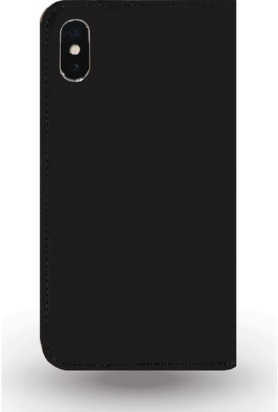 DC Apple iPhone X Eskitme Suni Deri Kapaklı Kartlıklı Stand Kılıf