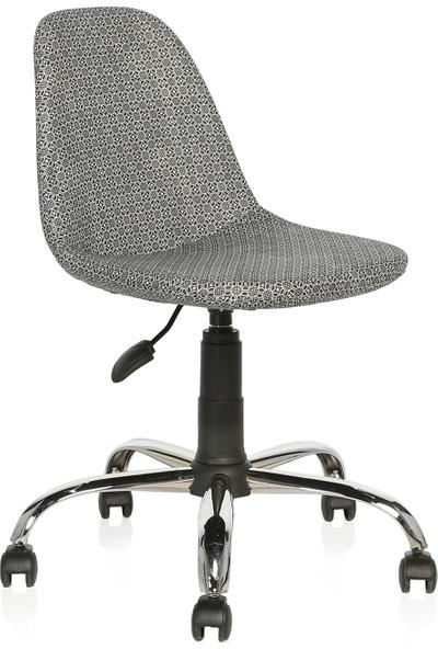 Seduna Verona Siyah Kumaş Sandalye Çalışma Koltuğu Ofis Koltuğu