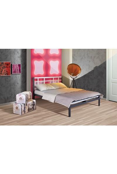 Muhico İbiza Çift Kişilik 160 x 200 Cm Siyah/Beyaz Metal Karyola