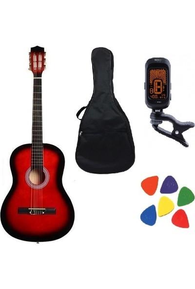 Gonzales 9-15 Yaş 98cm Klasik Gitar Seti Kılıf + Akort Cihazı + Pena