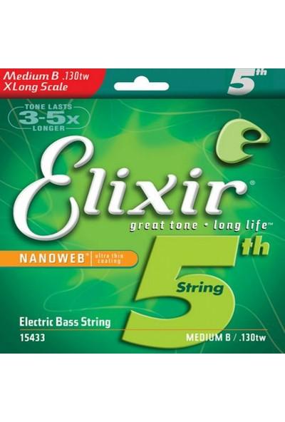 Elixir 15433 Nanoweb Tek Bas Gitar Teli (130)