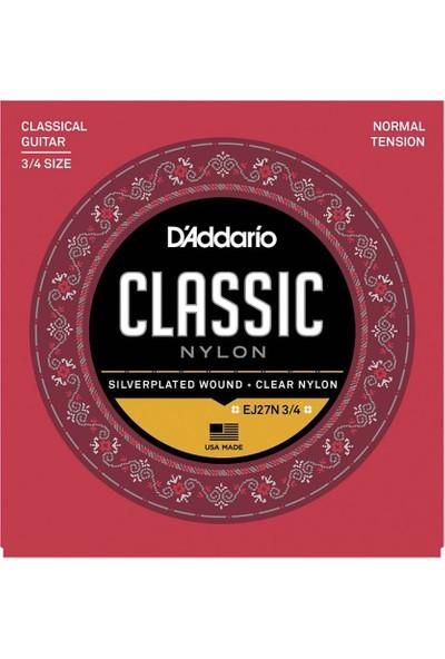 D'Addario EJ27N 3/4 Normal Tension Klasik Gitar Teli
