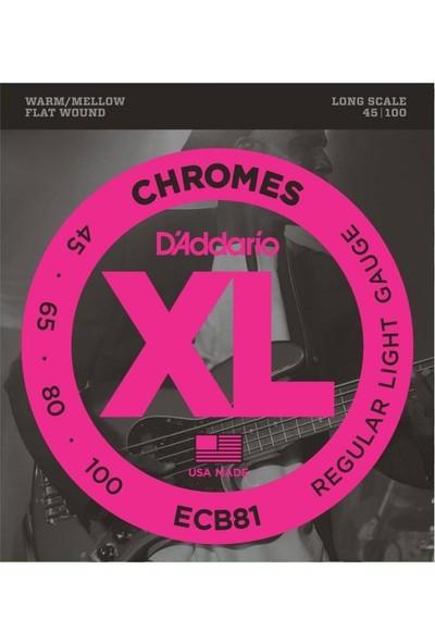 D'Addario ECB81 Chromes Bas Gitar Teli (45-100)