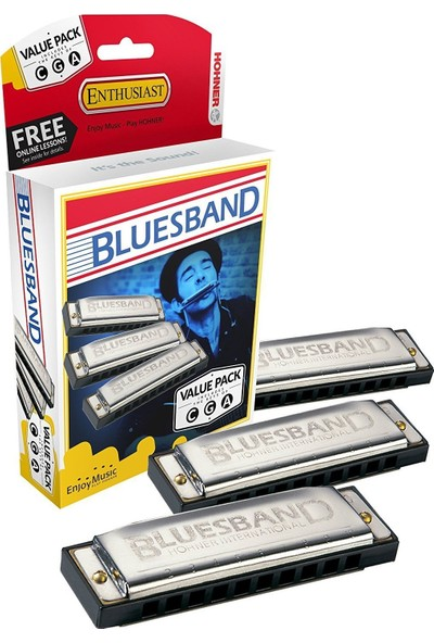 Hohner Blues Mızıka Seti (Do-Sol-La Majör)