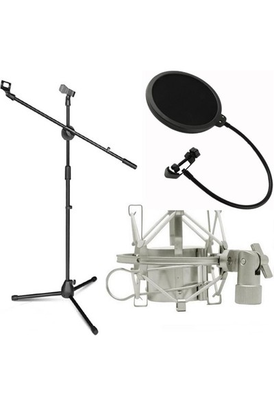 Lastvoice Ms06 Mikrofon Standı - Shock Mount - Pop Filtre