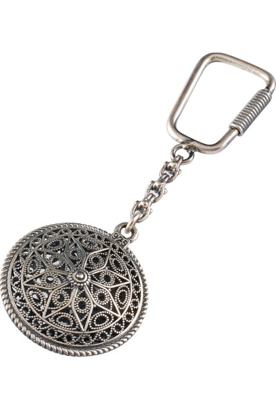 Akyüz Gümüş Kişiye Özel Telkari Gümüş Anahtarlık Anh037