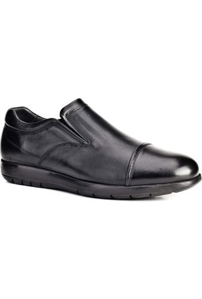 Cabani Bağcıksız Günlük Erkek Ayakkabı Siyah Soft Deri