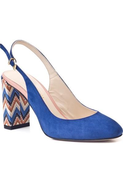 Cabani Günlük Kadın Ayakkabı Mavi Süet