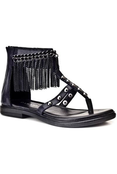 Cabani Günlük Kadın Sandalet Füme Deri