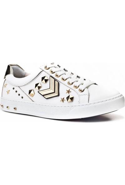 Cabani Sneaker Günlük Kadın Ayakkabı Beyaz Floter Deri