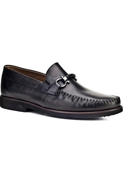 Cabani Makosen Günlük Erkek Ayakkabı Siyah Analin Deri