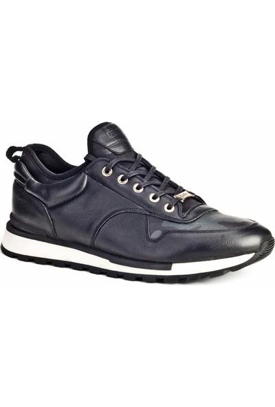 Cabani The Calabria Özel Tasarım Sneaker Erkek Ayakkabı Antrasit Antilop Deri