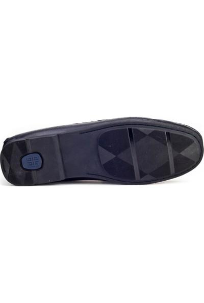 Cabani Loafer Günlük Erkek Ayakkabı Lacivert Deri