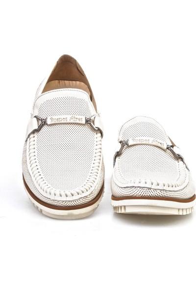Cabani Lazerli Light Taban Günlük Erkek Ayakkabı Bej Deri