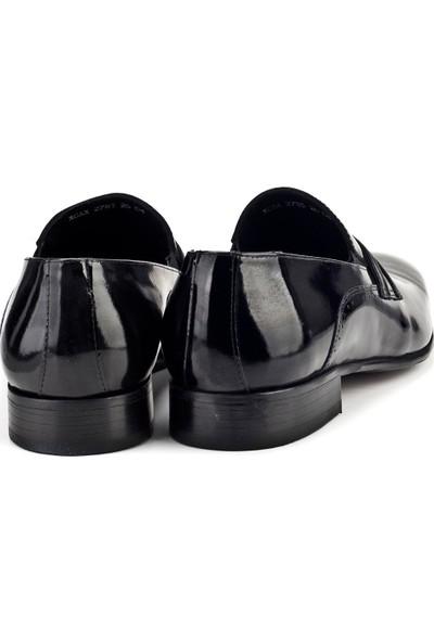 Cabani Damatlık Klasik Erkek Ayakkabı Siyah Rugan
