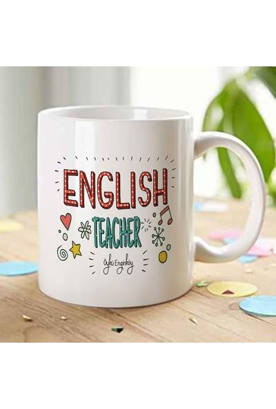 E-Hediyeci Kişiye Özel Mesleki İngilizce Öğretmeni Beyaz Kupa Bardak - 5