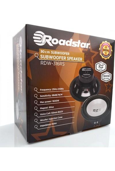 Roadstar RDW-316RS 30 cm 1600 WATT Oto Subwoofer
