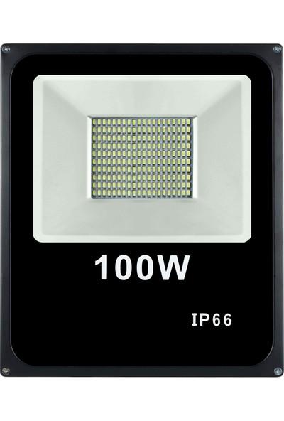 Sesay Led Aydınlatma 100 Watt Slim Led Projektör Beyaz Işık