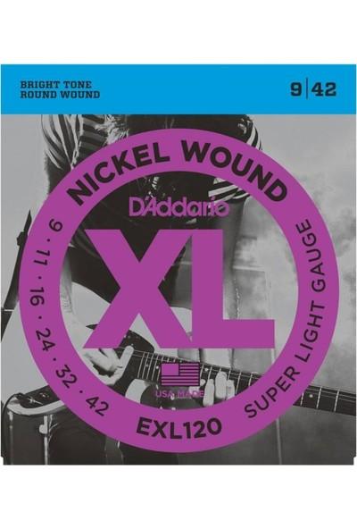 D'Addario EXL120 Elektro Gitar Teli (009-042)