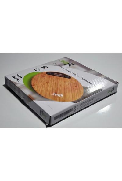 Techfit Tf1001 Dijital Hassas Lcd Ekran Mutfak Terazisi Bambu 5 Kg