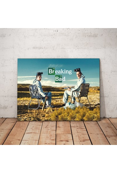 Javvuz Jessie and Walter - Breaking Bad - Metal Poster