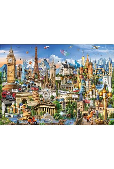 Educa Puzzle 2000 Parça Avrupa Yerler 17697