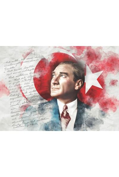 Keskin Color 1000 Parça Puzzle Atatürk ve Bayrak 260393