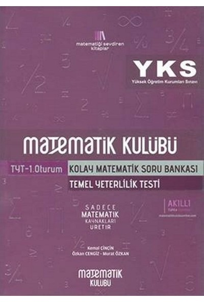 Matematik Kulübü Yks-Tyt Kolay Matematik Soru Bankası - Kemal Çinçin