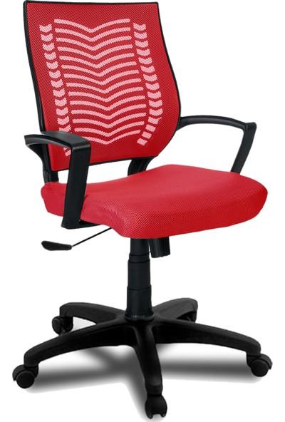 Büromotto Show Ofis Koltuğu, Bilgisayar ve Çalışma Sandalyesi - Kırmızı