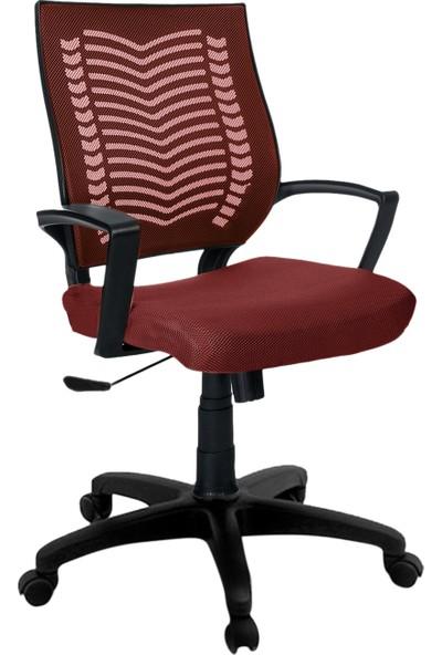 Büromotto Show Ofis Koltuğu, Bilgisayar ve Çalışma Sandalyesi - Bordo