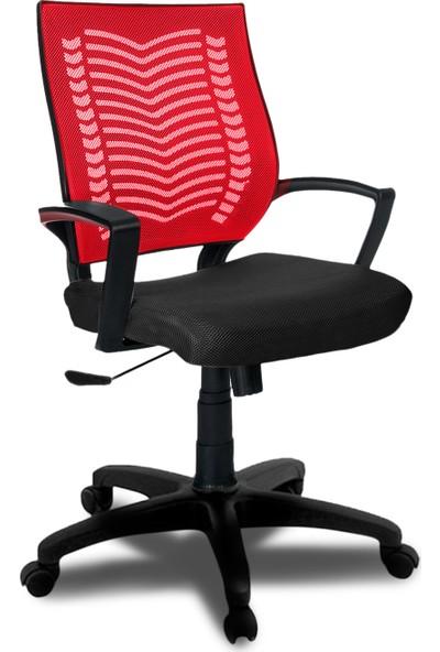 Büromotto Show Ofis Koltuğu, Bilgisayar ve Çalışma Sandalyesi - Kırmızı sırt