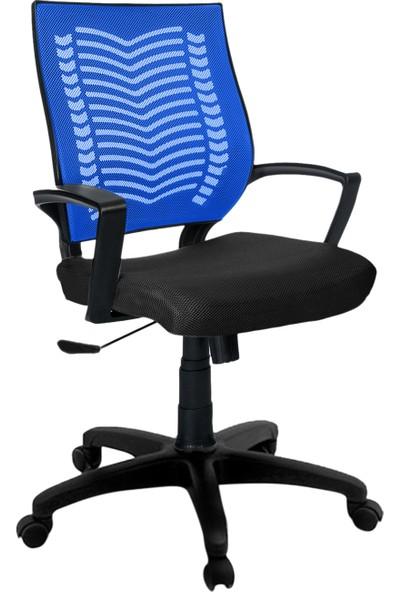 Büromotto Show Ofis Koltuğu, Bilgisayar ve Çalışma Sandalyesi - Mavi Sırt