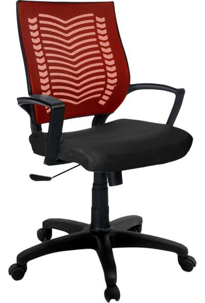 Büromotto Show Ofis Koltuğu, Bilgisayar ve Çalışma Sandalyesi - Bordo Sırt