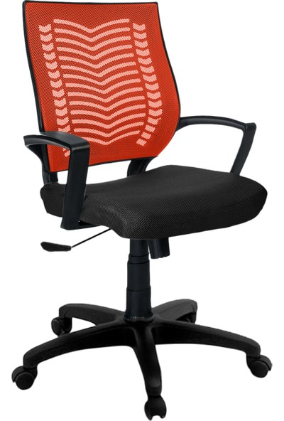 Büromotto Show Ofis Koltuğu, Bilgisayar ve Çalışma Sandalyesi - Turuncu Sırt