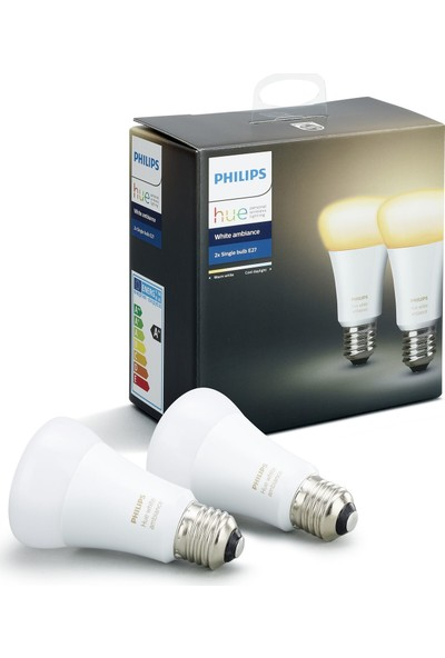 Philips Hue Beyaz Ambiyans Akıllı Ampul 2'li Ekopaket E27
