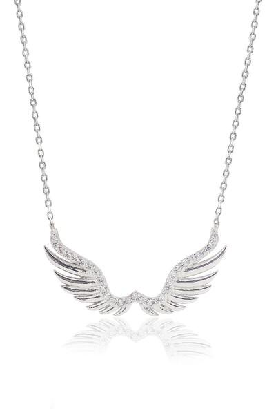 Söğütlü Silver Melek Kanadı Kolye Sgtl3370