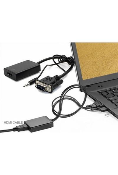Bst Vga To Hdmi Kablo Dönüştürücü Görüntü Ve Ses Çevirici