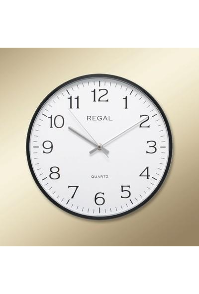 Regal 0250 BW İnce Siyah Çerçeve Beyaz Kadran Duvar Saati