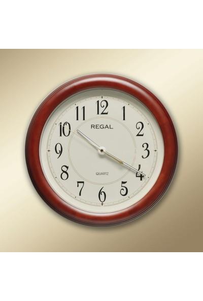 Regal 0912 AIL Masif Ahşap Işılkı Fotoselli Duvar Saati