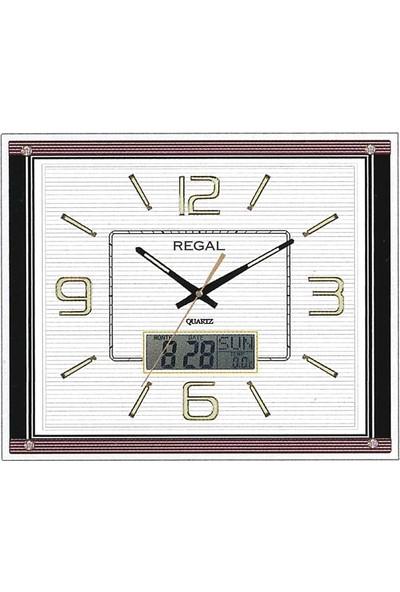 Regal 8153 W Dijital Takvimli 3d Kadran Beyaz Duvar Saati