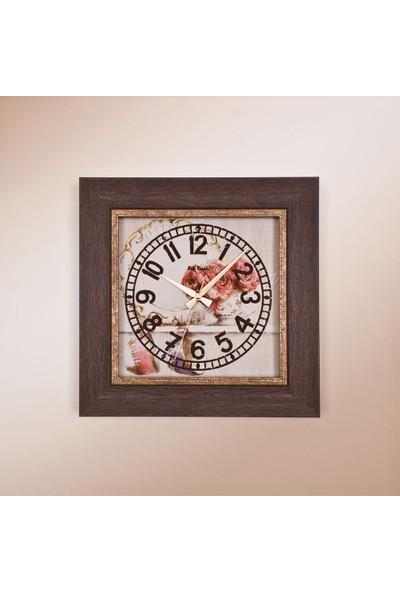 Arte Regale 1369 A2 Rustik Ahşap Desenli Köşeli Saat