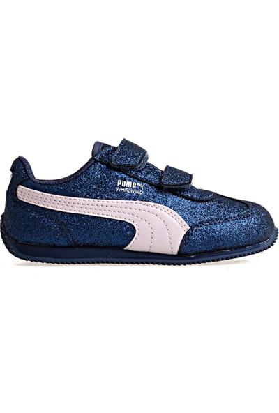 Puma Lacivert Çocuk Ayakkabısı Whirlwind Glitz V İnf 36397409