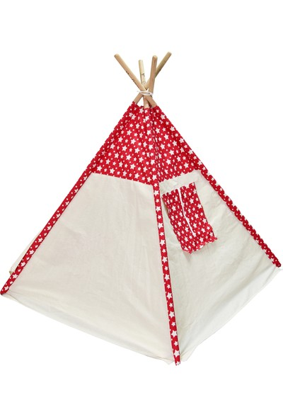 Fidukkan Ahşap İskelet Pencereli Kızılderili Çocuk Oyun Çadırı