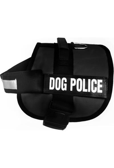 Ans Dog Police Köpek Göğüs Tasması 70 - 90 Cm Siyah