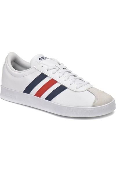 Adidas Vl Court 2.0 - 18 Beyaz Lacivert Erkek Sneaker
