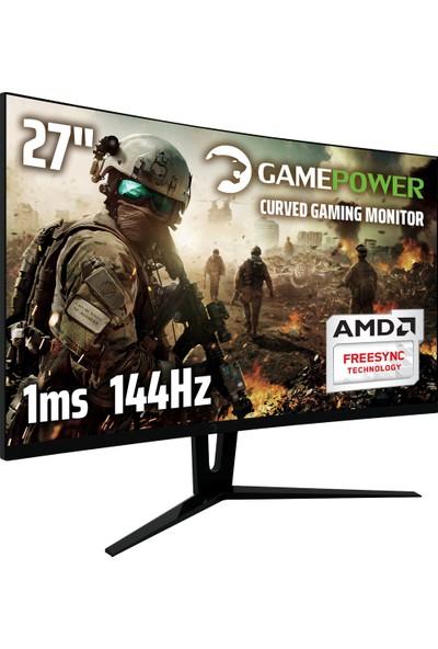 """Gamepower GPR27C14427"""" 1ms (Display+HDMI+DVI) FreeSync Full HD Curved Monitör"""