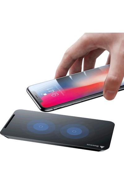 Baseus iPhone X 8 Plus Note 8 S8 Wireless Masaüstü Şarj İstasyonu