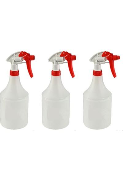 Kimyasal Dayanıklı Sıvı Püskürtme (Sprey) Şişesi 1 lt. x 3 Adet.